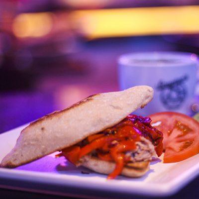 Small tuna and pepper sandwich